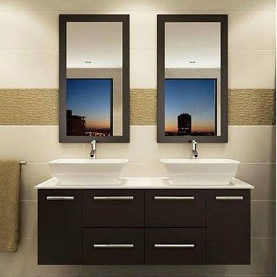 60 Double Bathroom Vanity Set with Mirror