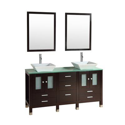 Port Lincoln 60 Double Bathroom Vanity Set with Mirror