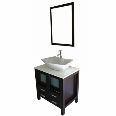 Caufield 30 Single Bathroom Vanity Set with Mirror