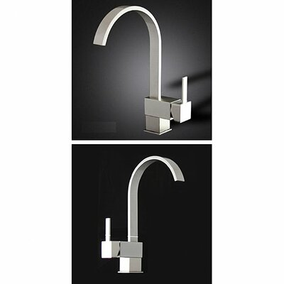 Single Level Handle Kitchen Sink Faucet Finish: Brushed Nickel