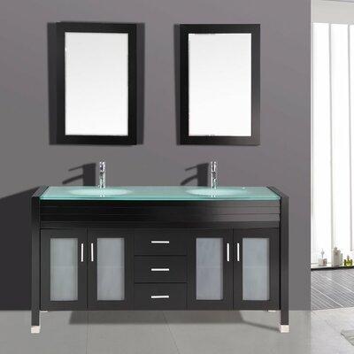 63 Double Bathroom Vanity Set with Mirror
