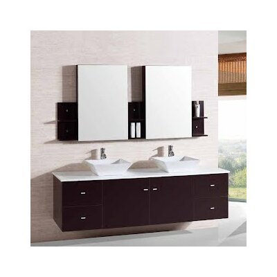 72 Double Bathroom Vanity Set with Mirror