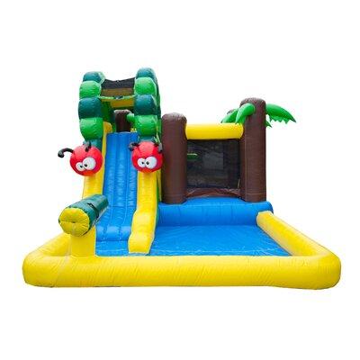 JumpOrange Caterpillar Mud Park Wet/Dry Combo Bounce House