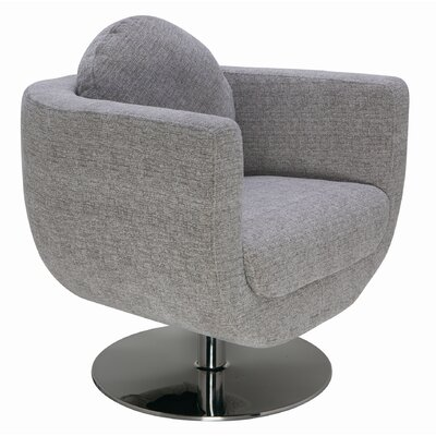 Simone Barrel Chair Upholstery: Grey / Mona
