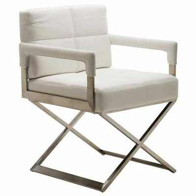 Jack Arm Chair Upholstery: White