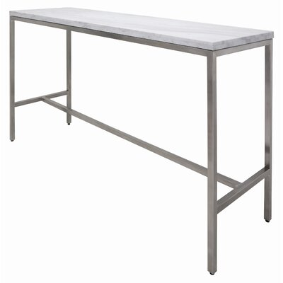 Verona Bar Height Dining Table Finish: White Marble