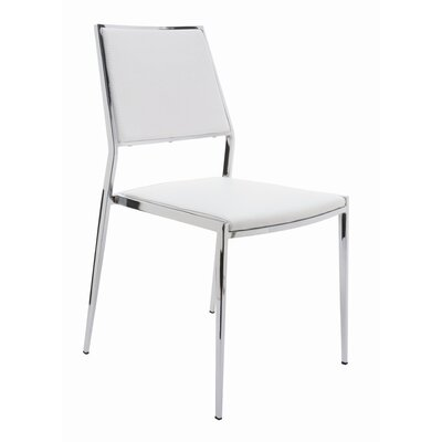 Aaron Side Chair Upholstery: White