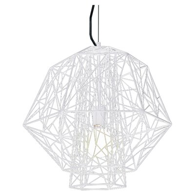 Zeus 1-Light Foyer Pendant Color: White