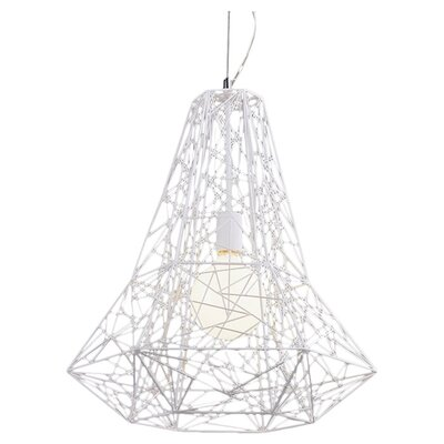 Apollo 1-Light Geometric Pendant Color: White