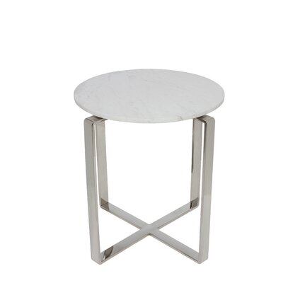 Kline End Table Color: Brown / White
