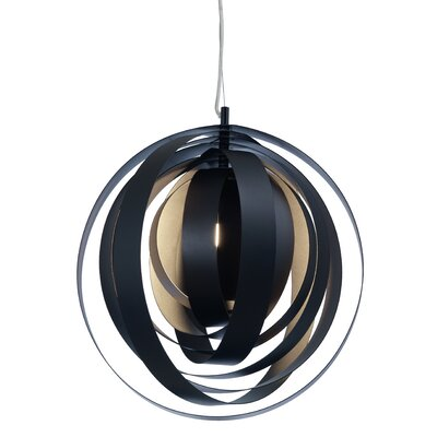 Orba 1-Light Globe Pendant Lamp Color: Black