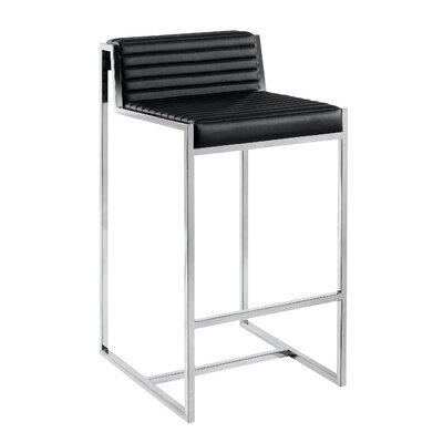 Zola 26 Bar Stool Upholstery: Black