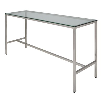 Verona Bar Height Dining Table Finish: Silver Glass