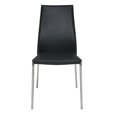 Eric Genuine Leather Upholstered Dining Chair Upholstery: Dark Grey