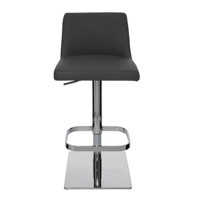 Rome Adjustable Height Swivel Bar Stool Upholstery: Grey