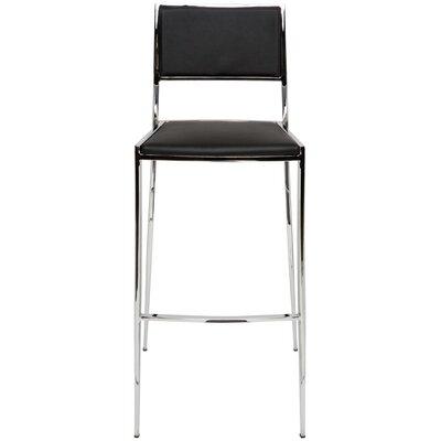 Aaron 29.25 Bar Stool Upholstery: Black