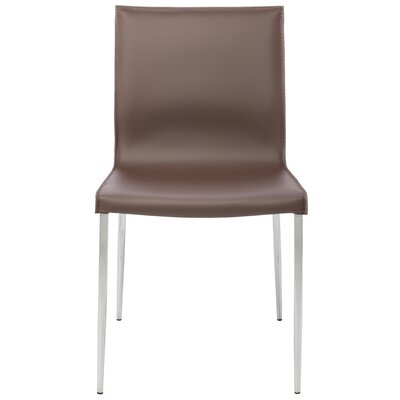 Colter Genuine Leather Upholstered Dining Chair Upholstery: Mink