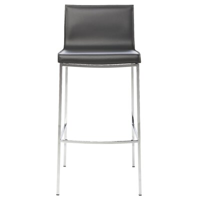 Colter Bar Stool Upholstery: Dark Grey