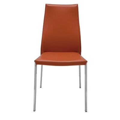 Eric Genuine Leather Upholstered Dining Chair Upholstery: Ochre