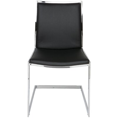 Temple Side Chair Upholstery: Black