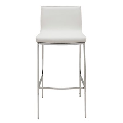 Colter 25.5 Bar Stool Upholstery: White