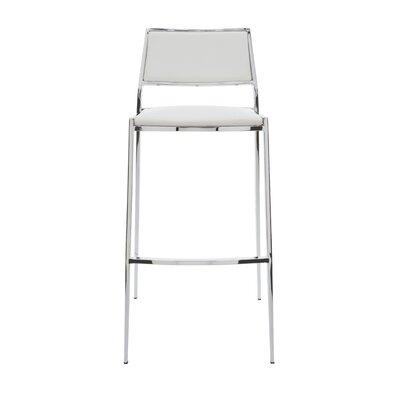 Aaron 24.75 Bar Stool Upholstery: White