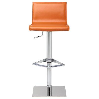 Colter Adjustable Height Swivel Bar Stool Upholstery: Ochre