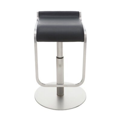 Adora Adjustable Height Bar Stool Upholstery: Black