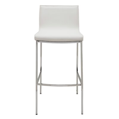 Colter Bar Stool Upholstery: White