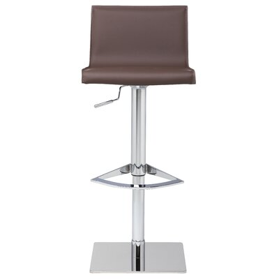Colter Adjustable Height Swivel Bar Stool Upholstery: Mink