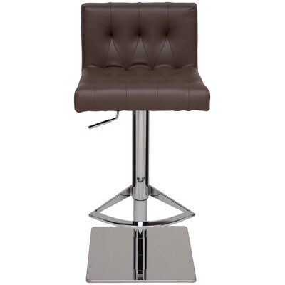 Adjustable Height Swivel Bar Stool Upholstery: Mink