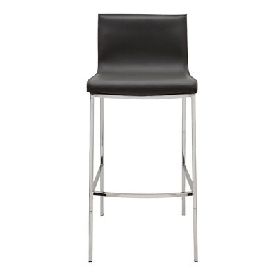 Colter Bar Stool Upholstery: Black