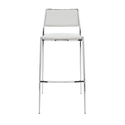Aaron 29.25 Bar Stool Upholstery: White