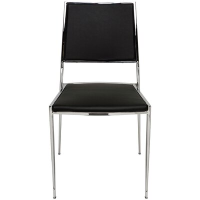 Aaron Side Chair Upholstery: Black