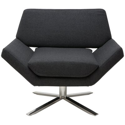 Sly Lounge Chair Color: Dark Grey