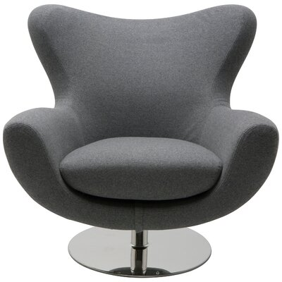 Conner Lounge Chair Upholstery: Light Grey