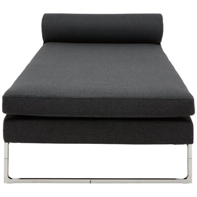 Quba Chaise Lounge Color: Dark Grey