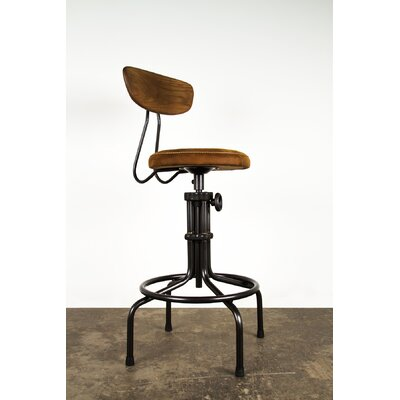 Buck Adjustable Height Swivel Bar Stool