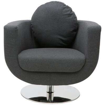 Simone Barrel Chair Upholstery: Dark Grey