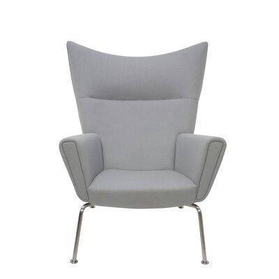 Jakob Lounge Chair Color: Grey Fabric
