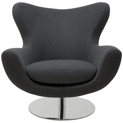 Conner Lounge Chair Upholstery: Dark Grey