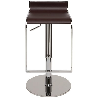 Alexander Adjustable Height Swivel Bar Stool Upholstery: Chocolate