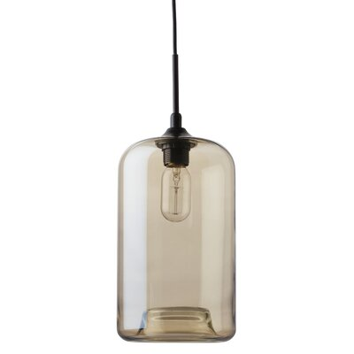 James 1-Light Mini Pendant Shade Color: Champagne