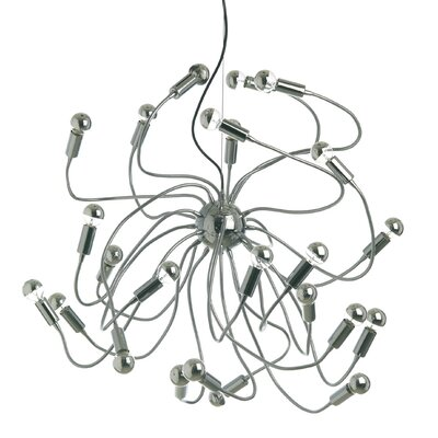 Titan 24-Light Cluster Pendant Finish: White
