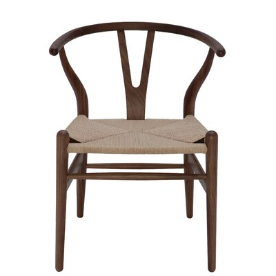 Alban Side Chair Color: Walnut