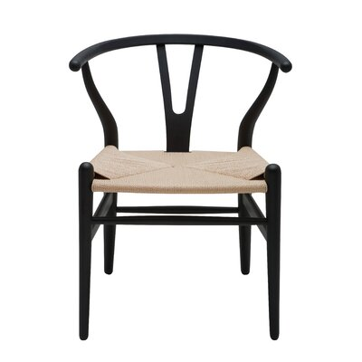 Alban Side Chair Color: Black