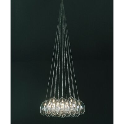 Karma 19-Light Cluster Pendant Shade Color: Clear