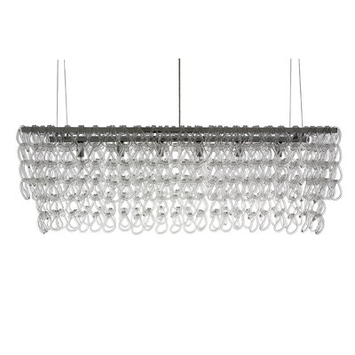 Jayden 6-Light Kitchen Island Pendant Size: 16.5 H x 48 W x 10 D