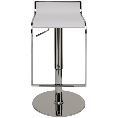 Alexander Adjustable Height Swivel Bar Stool Upholstery: White
