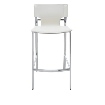 23.75 inch Bar Stool Upholstery: White